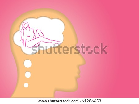 stock vector erotic seductive arousing dream concept showing a head silhouette thinking dream of a nude lady 61286653 Tags: free hot asian sex videos, mass tech hardcore