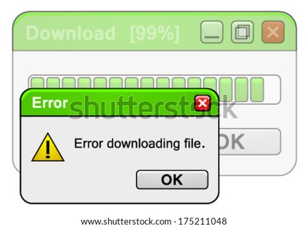 error downloading file at 99