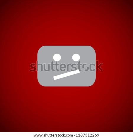 Error icon for video player. Vector illustration.
