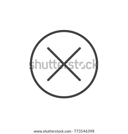 Error line icon, outline vector sign, linear style pictogram isolated on white. Cancel symbol, logo illustration. Editable stroke