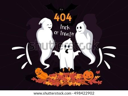 error page halloween