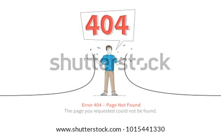error 404 page layout vector