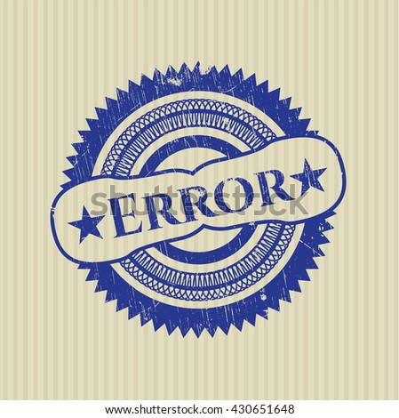 Error rubber grunge texture seal