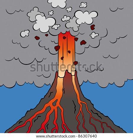 Animated Volcano Eruption