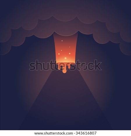erupting volcano illustration
