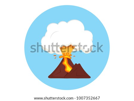 eruption mountain volcano with