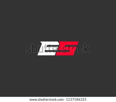 ES Design Logo Foto stock ©