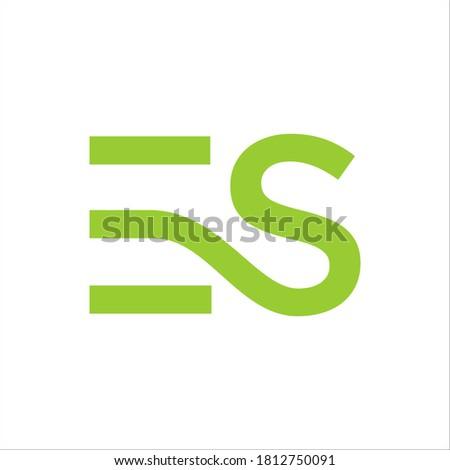 ES logo design vector sign Foto stock ©