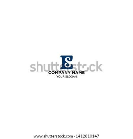 ES Logo Letter Design Vector Stock Foto stock ©