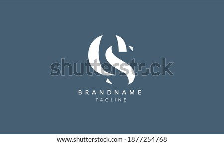 ES SE Lowercase Letter Initial Icon Logo Design Vector Illustration Stock fotó ©