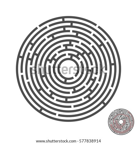 escape circle labyrinth with