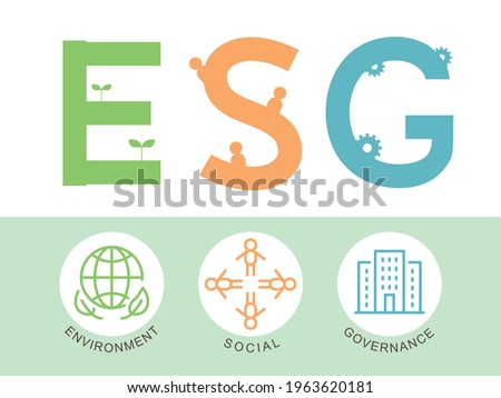 ESG vector infographic. environment, social, governance.