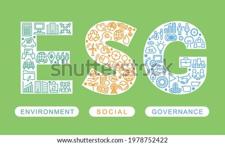 ESG vector logo design. Environment Social Governance.