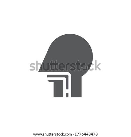 Esophagus vector icon symbol anatomy isolated on white background