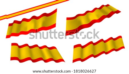 España flag or trans banner with blue and pink strips vector. España flag, flat and waving flag. Vector illustration. Flag wavy abstract background. Foto stock ©