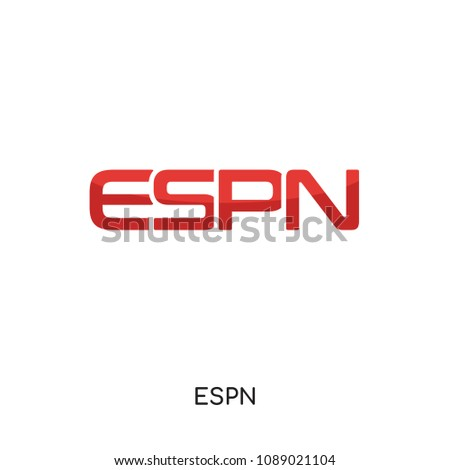 espn logo white isolated on