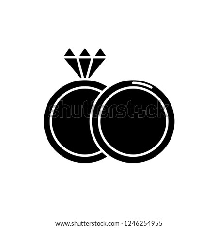 Espousal black icon, vector sign on isolated background. Espousal concept symbol, illustration