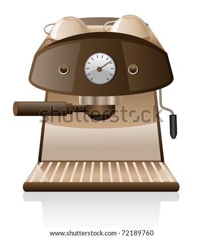 Espresso machine  isolated on white background.