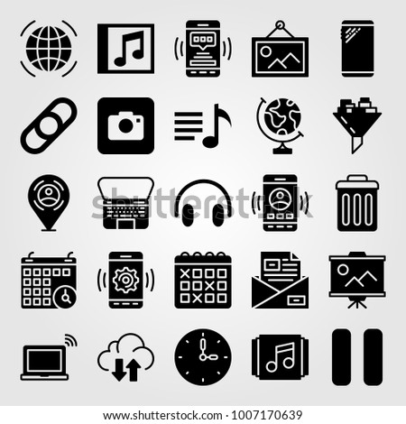 essentials icon set vector