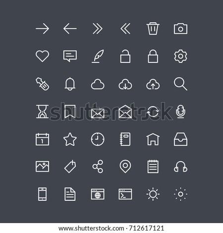 essentials ui icons