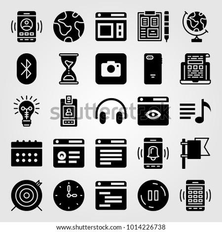 essentials vector icon set