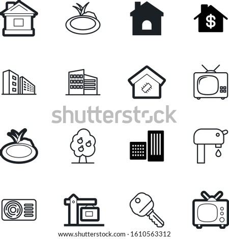 estate vector icon set such as: flow, tap, tech, plumbing, network, cooling, supply, industrial, pattern, source, lifting, board, hotel, secret, tower, chip, cool, microchip, climate, structure, key