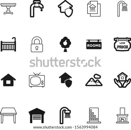 estate vector icon set such as