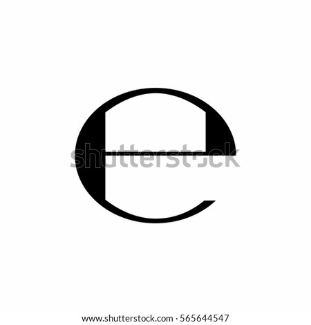 Estimated sign, E mark, E symbol vector design isolated on white background