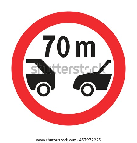Estonia Minimum Safe Following Distance between Vehicles Sign