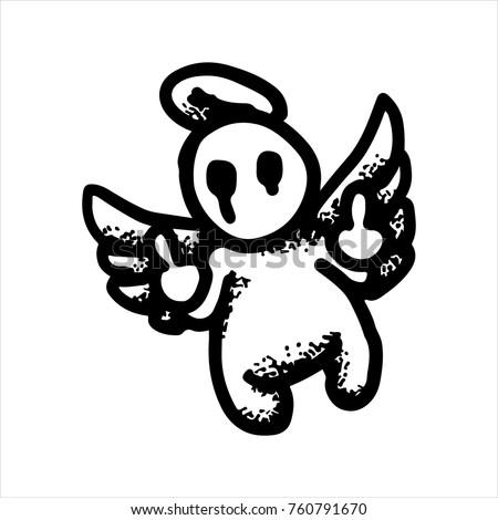 etched vector illustration