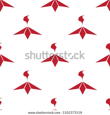 Eternal fire red icons on white background. Seamless background. Vector illustration.
