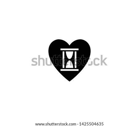 Eternal love vector isolated flat illustration. Eternal love icon
