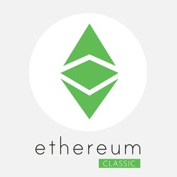 Ethereum classic (ETC) crypto currency. Ethereum crystal art icon for apps and websites.