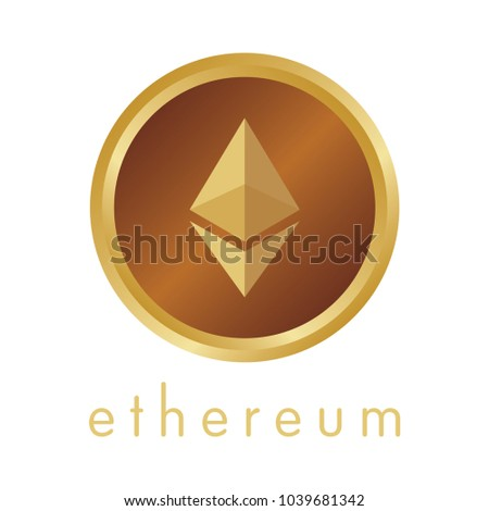Ethereum coin vector icon. #1039681342
