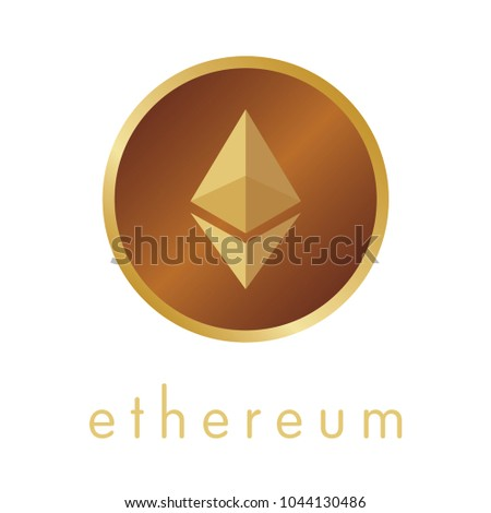 Ethereum coin vector icon. #1044130486