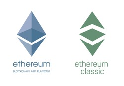 Ethereum cripto currency chrystal  icon. Blockchain platform logo. Sign Ethereum classic currencies. Symbol of smart technologies. Decentralized computer networks