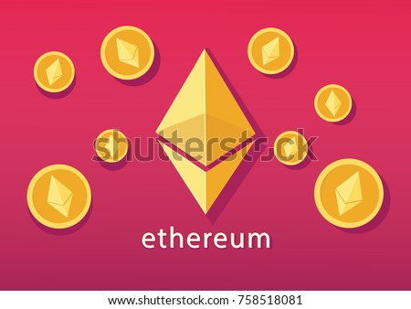 Ethereum cryptocurrency concept. vector illustration #758518081