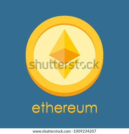 Ethereum logo. Cryptocurrency icon. Crypto coin logotype. Net banking sign. International money or currency. Vector illustration. #1009234207