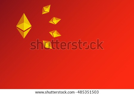 ethereum logo set as stars on