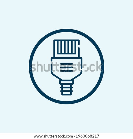 ethernet icon isolated on white background from computer hardware collection. ethernet icon trendy and modern ethernet symbol for logo, web, app Stock fotó ©
