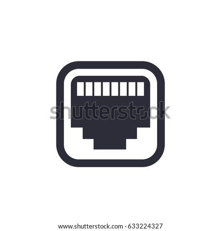 ethernet, network port icon Stock fotó ©