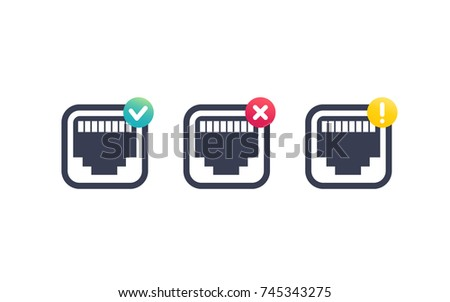 Ethernet Conection Icons Download Free Vector Art Stock Graphics