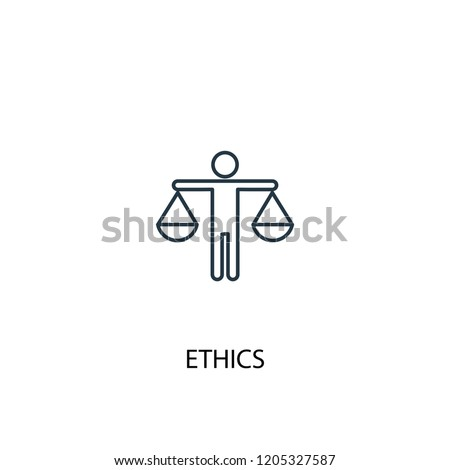 ethics concept line icon. Simple element illustration. ethics concept outline symbol design. Can be used for web and mobile UI/UX