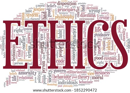 Ethics vector illustration word cloud isolated on a white background. Сток-фото ©
