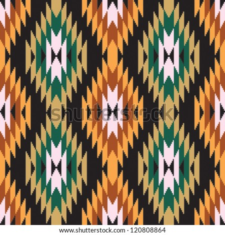 Ethnic abstract geometric pattern ikat ornament