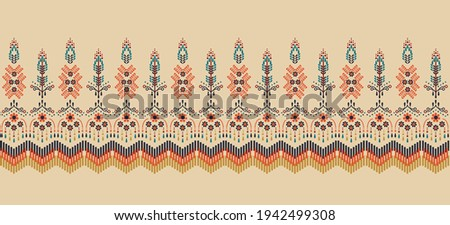 Ethnic abstract square pattern art. Seamless pattern in tribal, folk embroidery, Tribal cloth style. Aztec geometric art ornament print.Design for carpet,  clothing, wrapping, fabric, cover, textile