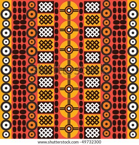 Ethnic african symbols on white background