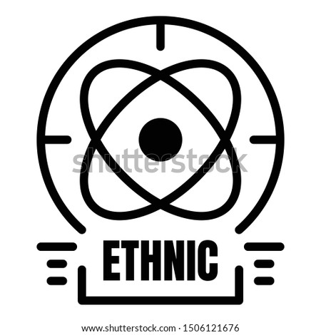 Ethnic alchemy icon. Outline ethnic alchemy vector icon for web design isolated on white background