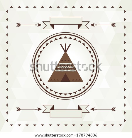 ethnic background with wigwam...