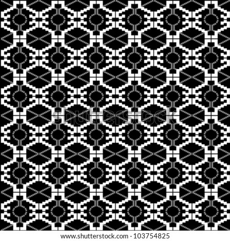 Ethnic black and white texture